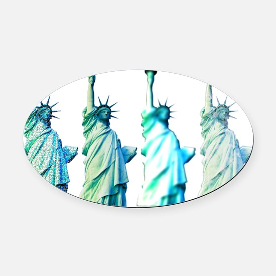 Liberty Oval Car Magnet