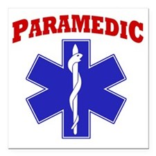 "Paramedic Square Car Magnet 3"" x 3"""