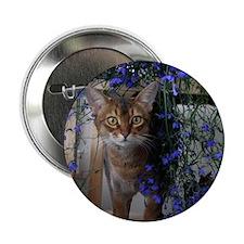 """Flower Cat 2.25"""" Button"""