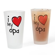 I Love My Opa Drinking Glass