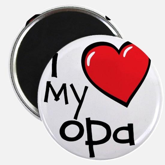 I Love My Opa Magnet