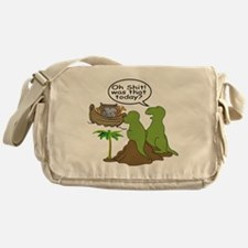 Noah and T-Rex, Funny Messenger Bag
