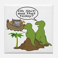Noah and T-Rex, Funny Tile Coaster