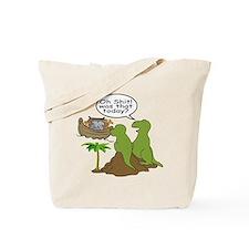 Noah and T-Rex, Funny Tote Bag