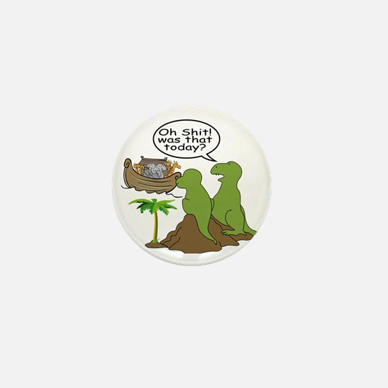 Noah and T-Rex, Funny Mini Button