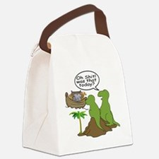 Noah and T-Rex, Funny Canvas Lunch Bag