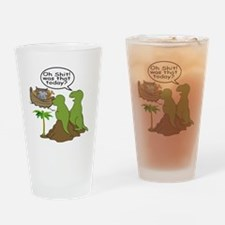 Noah and T-Rex, Funny Drinking Glass