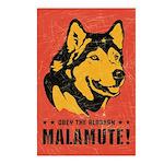 Alaskan Malamute! Postcards (Package of 8)