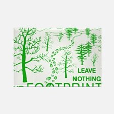 Leave Nothing but Footprints Gree Rectangle Magnet