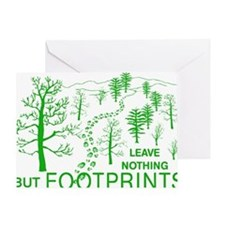 Leave Nothing but Footprints Green Greeting Card