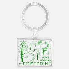Leave Nothing but Footprints Gr Landscape Keychain
