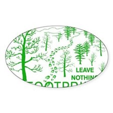 Leave Nothing but Footprints Green Decal