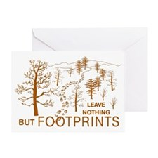 Leave Nothing but Footprints Brown Greeting Card