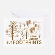 Leave Nothing but Footprints Brown Greeting Card