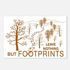Leave Nothing but Footpri Postcards (Package of 8)