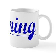 Ronning, Blue, Aged Mug