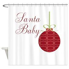 Santa Baby Christmas Ornament Shower Curtain