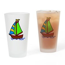 Sail Boat Drinking Glass