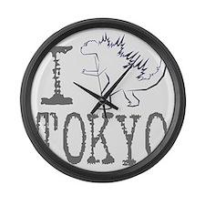 I Godzilla TOKYO (new) Large Wall Clock
