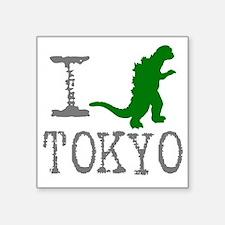 "I Godzilla TOKYO (original) Square Sticker 3"" x 3"""