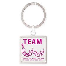 Team Tammys Tattas Square Keychain