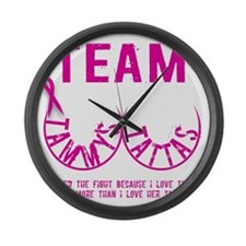 Team Tammys Tattas Large Wall Clock