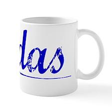 Rodas, Blue, Aged Mug