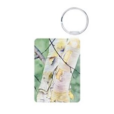 Birches Aluminum Photo Keychain