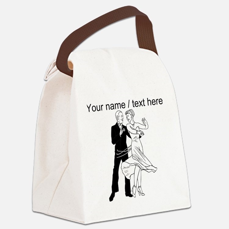 Custom Ballroom Dancing Canvas Lunch Bag