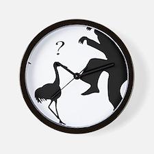 Hilarious Crane and Ninja Wall Clock