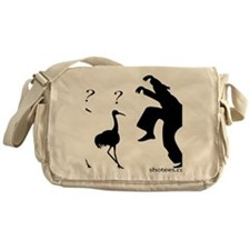 Hilarious Crane and Ninja Messenger Bag