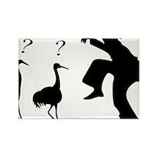 Hilarious Crane and Ninja Rectangle Magnet
