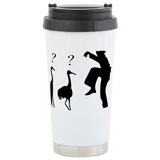 Hilarious Crane and Ninja Travel Mug