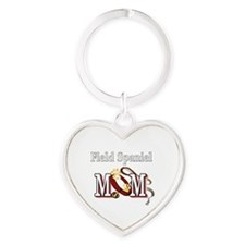 Field Spaniel Mom Heart Keychain