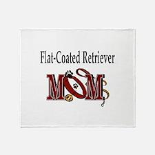 Flat-Coated Retriever Mom Throw Blanket