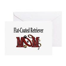 Flat-Coated Retriever Mom Greeting Card