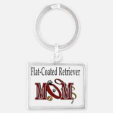 Flat-Coated Retriever Mom Landscape Keychain
