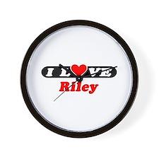 I Love Riley Wall Clock