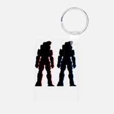 Red and Blue Keychains