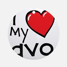 I Love My Avo Round Ornament
