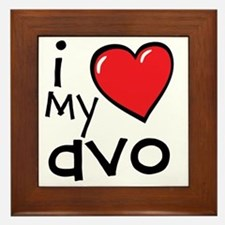 I Love My Avo Framed Tile