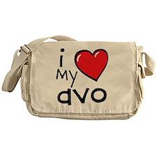 I Love My Avo Messenger Bag