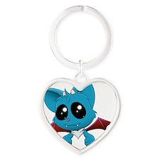 Cute creature 2 Heart Keychain