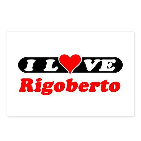 I Love Rigoberto Postcards (Package of 8)