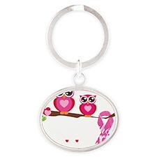 ribbon2 Oval Keychain
