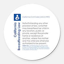 Breastfeeding In Public Law - Cal Round Car Magnet