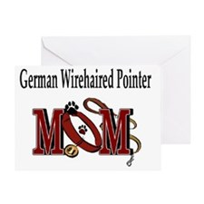 German Wirehaired Pointer Mom Greeting Card