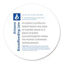 Breastfeeding In Public Law - Ari Round Car Magnet