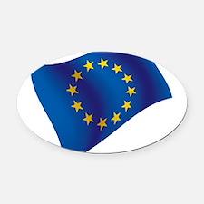 European Union Oval Car Magnet