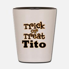 Trick or Treat Tito Shot Glass